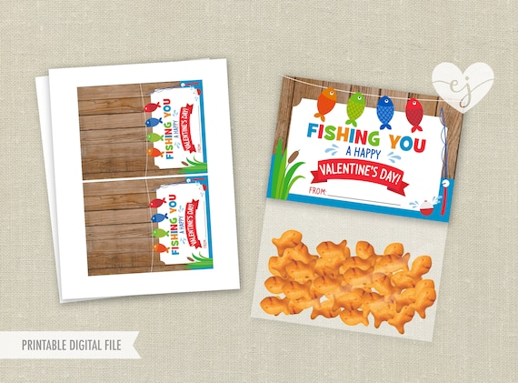 image about Goldfish Valentine Printable referred to as Fish Valentines, Goldfish Crackers Valentine, Valentine Address Bag, Goldfish Valentine Printable, Valentines Working day Playing cards, Printable Valentine