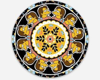 "NELSON MANDALA 3"" the Simpsons stickers"