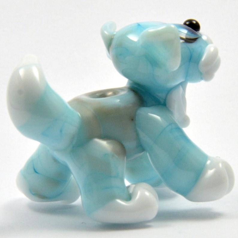 Pendant CAT Benoit the Cat Lampwork Glass Focal Bead Glass Sculpture Collectable Focal Bead Blue Cat Izzybeads SRA