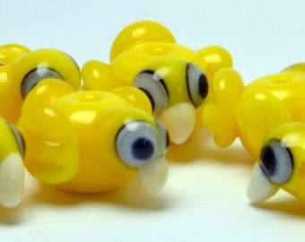 Lampwork glass Little Chick charm sized beads -MTO (made to order)  beads - from Izzybeads SRA UK