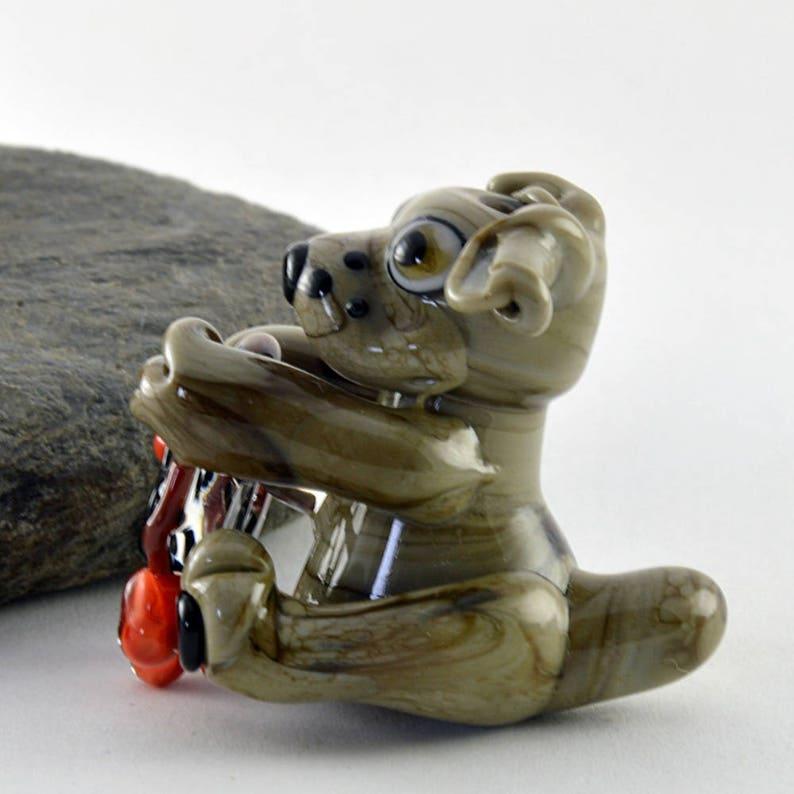 Handmade Lampwork Glass Sculpture Bead DREAM CATCHER  Focal Bead Sculpture Flameworked Glass Bead