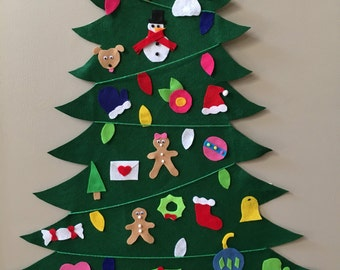 Felt Christmas Tree 20 different ornaments!!