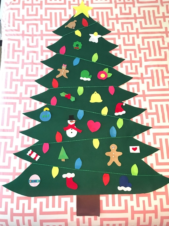 4 Foot Christmas Tree.4 Foot Felt Christmas Tree 21 Ornaments