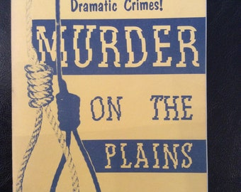 vintage book ... MURDER on the PLAINS ... Frontier Book No2