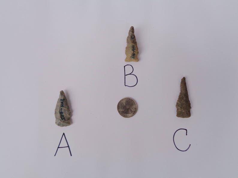 Authentic Cherokee Indian arrowheads   Authentic arrowheads from Tennessee,  USA