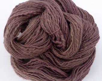 Hand dyed  Alabama pure cotton  yarn. Tawny brown . Alabama cotton.