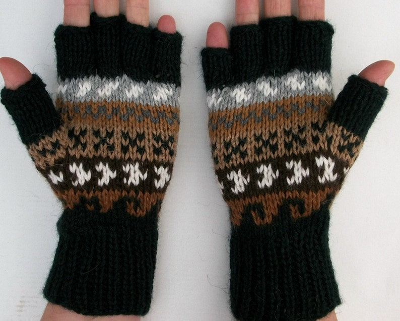 Alpaca finger-less gloves. Texting gloves. 4 colors ...