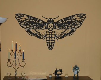 Deathhead Moth Wall Decal - Your Choice of Color