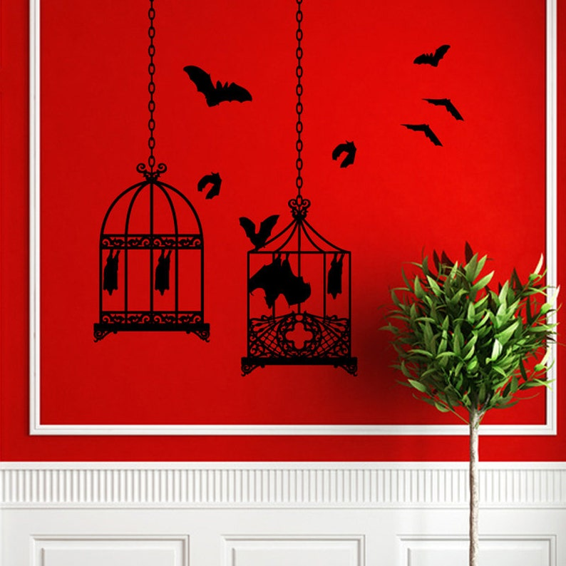Bat Cages Wall Art-CHOOSE ANY 2 COLORs image 0