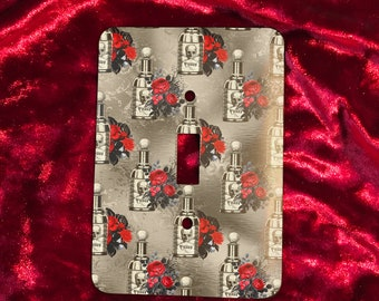 Vintage Poison Bottle Gothic Light Switch Plate Cover