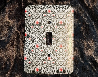 Gothic Rose Damask Light Switch Plate Cover