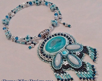 For Gracie - Bead Embroidery Bead Woven Pendant Necklace