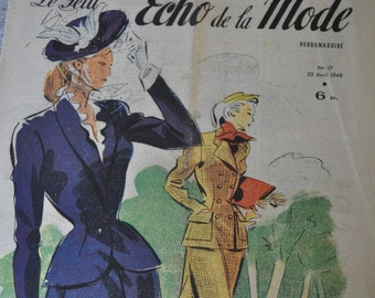 April 1948 French Fashion and Lifestyle Magazine for Paper Crafts, Research or Framing