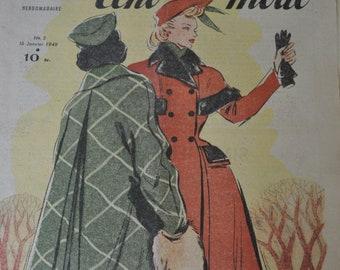 Le Petit Echo de la Mode - French Fashion Magazine for  Framing.Paper Crafts, Scrapbooking, Research,1940s