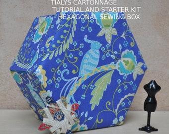 Hexagonal Sewing Box Starter Kit  - Tialys Cartonnage - Free Postage U.K. Only