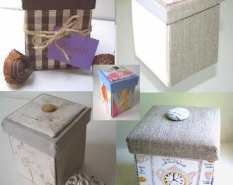 PDF Tutorial for Small Etui Box - Sewing Box, Treasure Box, Memory Keeper, Gift Box