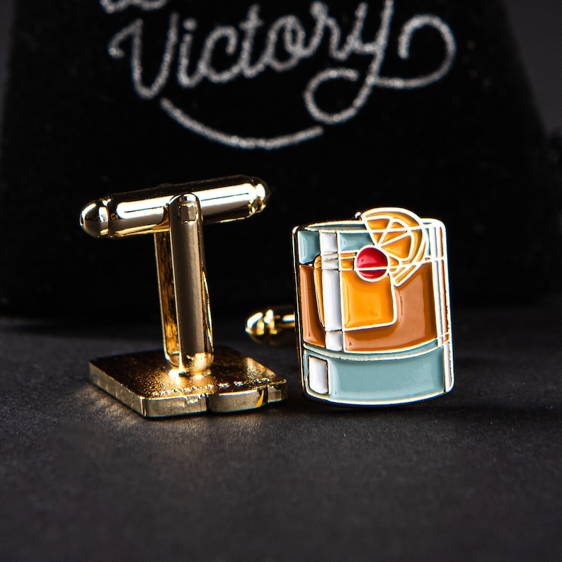 Old Fashioned Cocktail Cufflinks