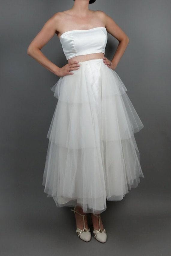 Dahlia Vintage 1950's Tulle Bridal Skirt