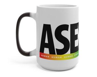 Rainbow Human Mug : Asexual