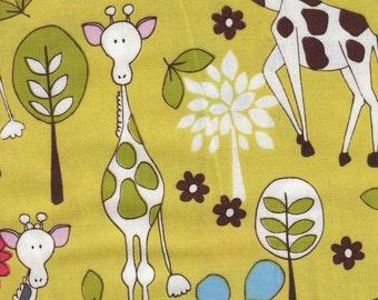 Michael Miller Giraffe Garden - Fabric 1 yard off of bolt - more available