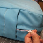 Camper Cushion Covers with zippers for dinette - set of 4 - made to order - custom - you provide fabric - Happy Campers of the South