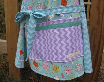 Apron Apron - adult size - full apron - light blue - by Happy Campers of the South (APR155)