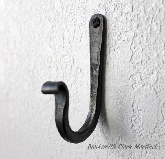 Wall Hooks Set Of 3 Iron Hooks Blacksmith Made Decorative Etsy