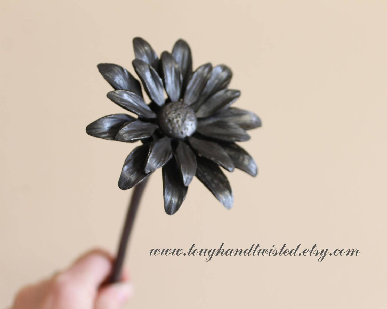 Gerber daisy flower gerbera metal flower iron anniversary etsy izmirmasajfo