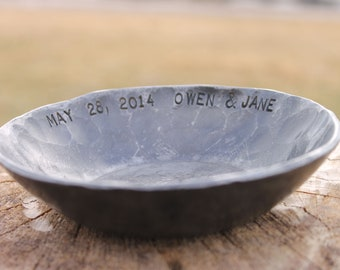 Gifts for her- Iron Bowl - candy dish- inspirational -custom bowl - wabi sabi dish - ring dish - candle holder - 6th anniversary - round