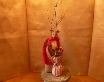 CHRISTMAS-HOLIDAY REINDEER Doll-shelf sitter-Decoration