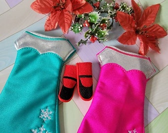 """Doll 12"""" or Elf Clothes Fancy Dress with shoes"""