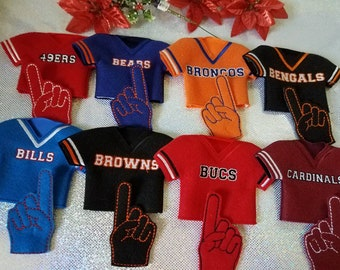 """Doll 12"""" or Elf Clothes - Football Jersey - you pick team"""