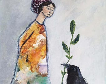 Raven Bearing A Gift, Archival Gicleé Print