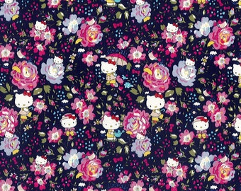 1f6ce10e7 2019 reprint - felicite - hello kitty x liberty - season 2 - 2011 - fat  quarter - navy