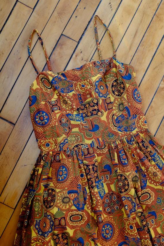 50s Golden Hour Bandana Dress/MEDIUM