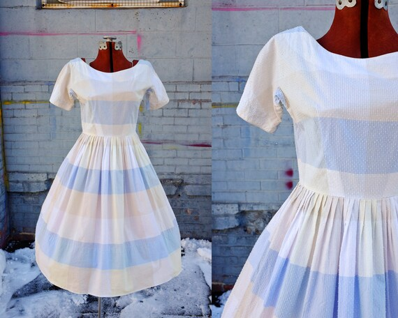 Pleasantly Pastel 50's L'Aiglon Dress-Small-Medium