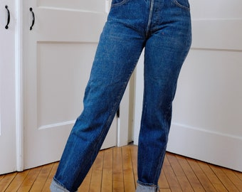 Vintage Levi's 501 xx Size 2, Early 80's 1980s Levis Thrashed Button Fly Denim 27 x 31, Vintage Levi 501's 505 High Rise Jeans Small S