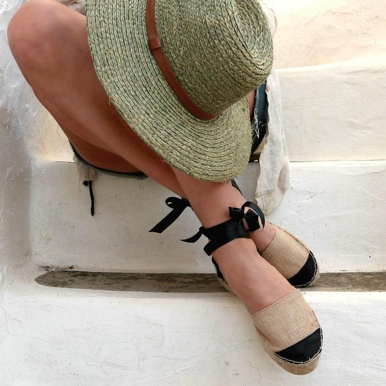 Espadrille Sandals. Lace up Beige Sandals . Flat Summer Shoes. Ankle Tie Women's Sandals. Ballerina Flats. Greece Sandals. Platform Sandals.
