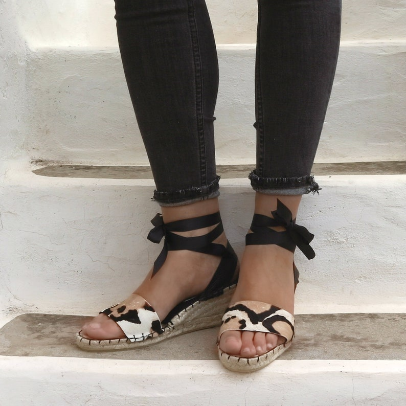 SandalesEtsy Espadrilles Chaussures Leopard Femmes Compensées yvYb6f7g