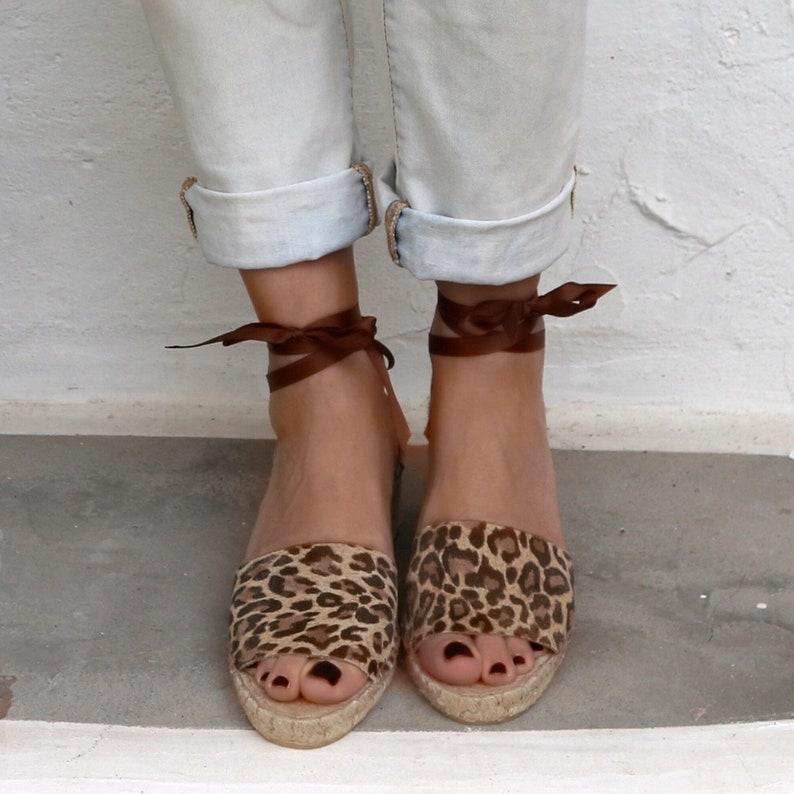 a92a1853ecad Espadrilles Wedges Leopard Shoes Women Greek Sandals Women | Etsy