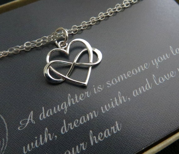 Gift For Daughter From Mom Infinity Heart Bracelet Wedding Etsy
