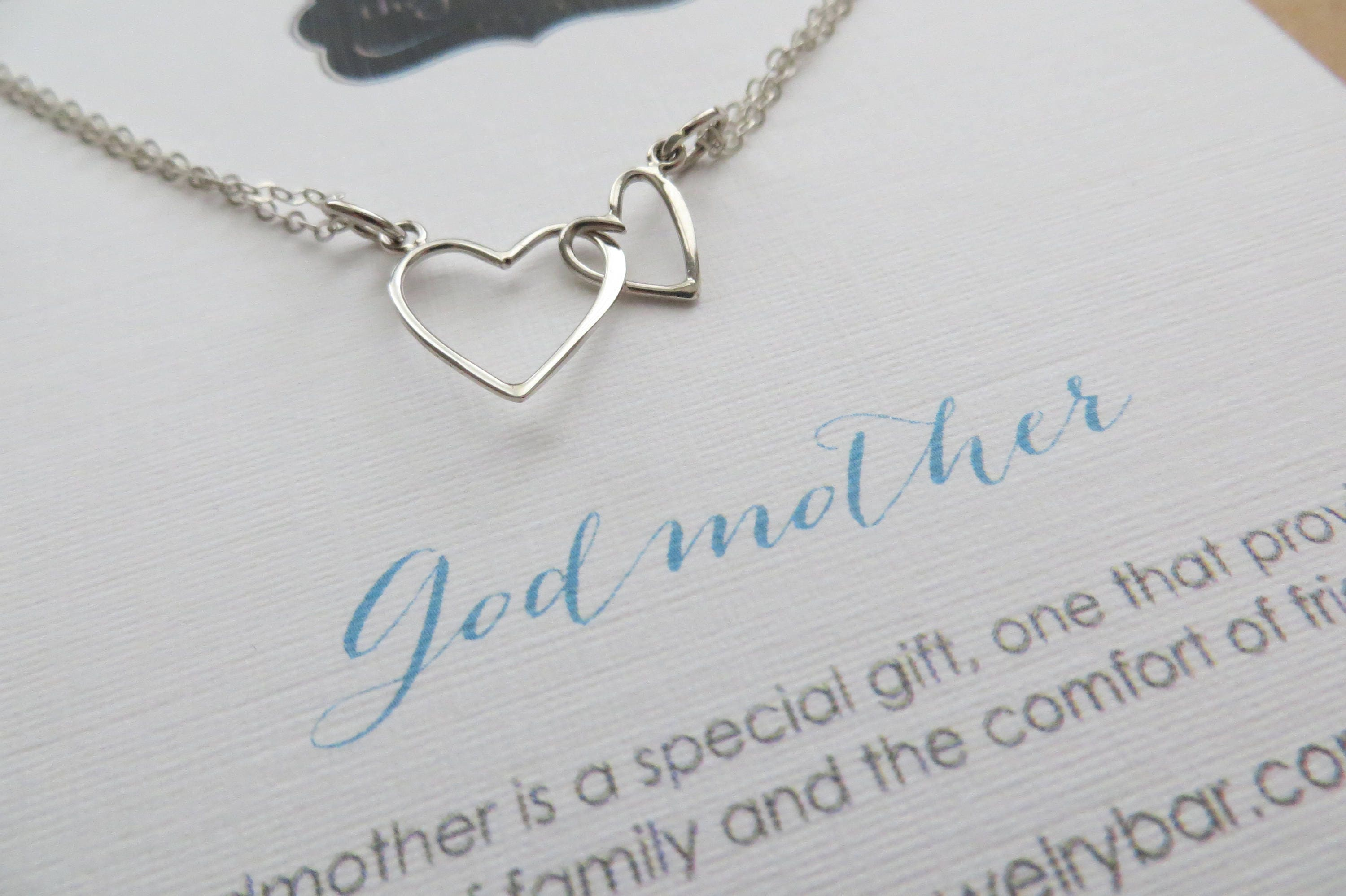 Gift For Godmother Godmother Gift Mothers Day Gift: Godmother Gift Big And Little Heart Necklace Mothers Day