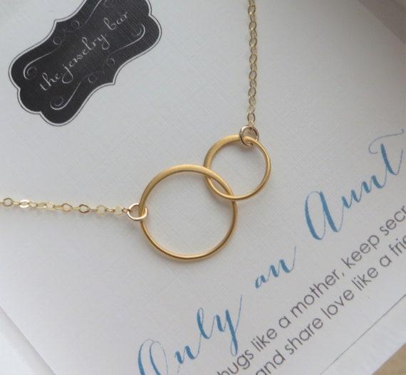 Beste Tante Geschenk Ewigkeit Halskette Tante Nichte Zusammen Link Neue Tante Schmuck Tante Weihnachtsgeschenk Geburtstagsgeschenk Zwei Ring