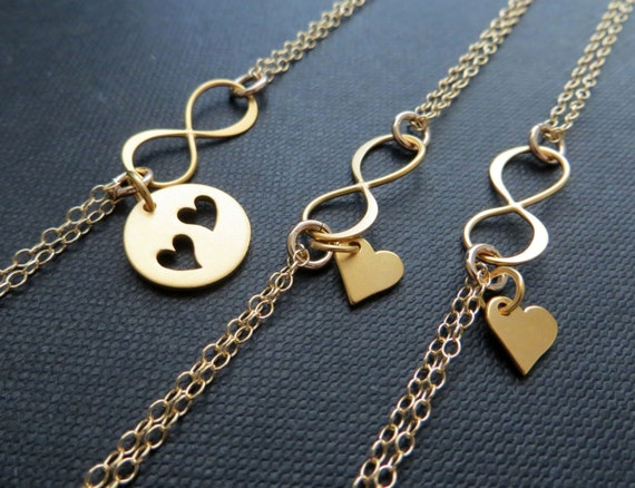 Verrassend Moeder dochter Infinity armband sets moeder twee dochters | Etsy WZ-09