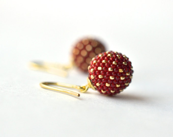 earrings red gold - chinese wedding jewelry gold