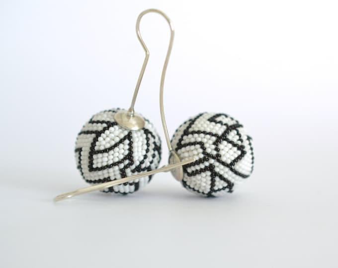 OOAK Statement earrings, abstract  art to wear
