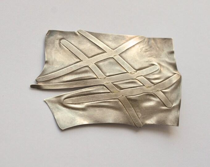 OOAK brooch sterling silver
