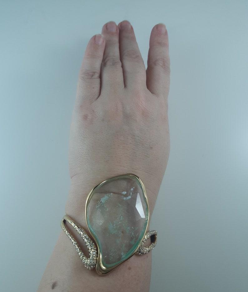Vintage Alexis Bittar Signed Clamp Bracelet