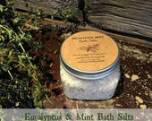 All Natural Eucalyptus and Peppermint Dead Sea Bath Salts with Pure Essential Oils to Spa At Home -16 ounce FREE SHIPPING