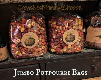 Pumpkin Harvest scented Putka Pod Potpourri blend of Pumpkin Cinnamon Spice Primitive Decorative Bowl Filler. Free Shipping!